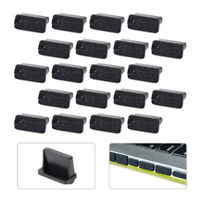 20pcs PVC Soft Rubber A Type Female USB Anti Dust Protector Plugs Stopper Cover