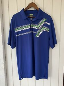 Greg Norman For Tasso Elba Men's Size XL Play Dry Fit Short Sleeve Golf Polo