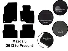 Mazda 3 (2013 to DATE) New Fully Tailored Quality Black Carpet Car Floor Mats