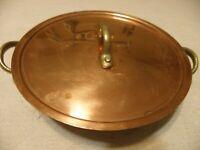 Vintage copper au gratin pan with lid