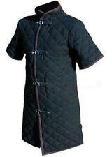 Thick black color viking Gabonese Medieval Padded collar short sleeves Armor Ne