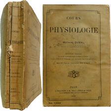Cours de physiologie 1892 Küss Mathias Duval médecine organes tissus nerfs