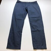 Calvin Klein Mens Size 34x30 Slim Fit Blue Dress Pants A205