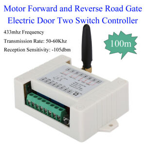 Wireless Remote Control 2CH Motor Forward and Reverse Road Gate Electric Door
