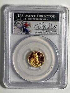 2000-W PCGS 70 DCAM Philip Diehl Signature Proof $5 American US Gold Eagle