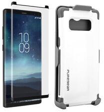 PureGear White Dualtek Case Belt Clip Tempered Glass for Samsung Galaxy Note 8