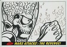 Mars Attacks The Revenge Panoramic Sketch Card By Patrick Giles