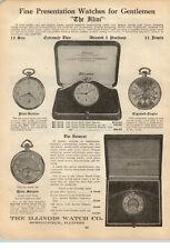 1923 PAPER AD Illini Pocket Watch Autocrat illinois Watch Co Bassine