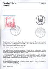 ITALIA 2007 SANT'EVASIO   BOLLETTINO COMPLETO DI FRANCOBOLLI FDC