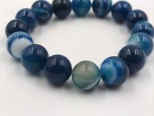 """Shamballa Beaded  Adjustable Bracelet Candy Blue  Elastic  7"""" - 8.5"""" inches Long"""