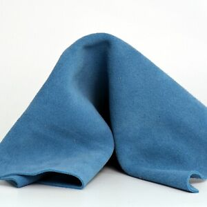 Suede Leather Pieces Cow Sky Color Split Buffed to Buttery Velvet 4-4.5 oz