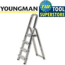 Youngman Atlas 4 Tread Aluminium Lightweight Platform Step Ladder Trade DIY