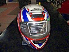 Motorradhelm KBC TK-77, Größe M, Viper Blau/Rot