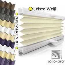 Plissee nach Maß Faltrollo ☆DESIGNO☆ Profil Weiß ► Rollos Plissees & Jalousien