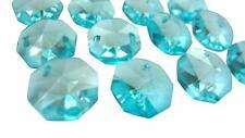 100 Light Aqua 14mm Octagon Chandelier Wedding Crystal Beads Aquamarine Octagons