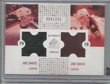 2003 SP Game Used Hockey Joe Sakic Dual Jersey Card # 94/225 (CSC)