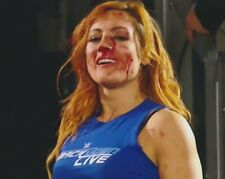 Becky Lynch The Man 8x10 photo Crowd Bloody nose Smackdown