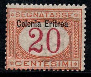 Eritrea 1903 Sass. 3 Nuovo ** 100% Segnatasse 20 cent...