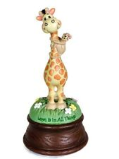 Precious Moments BaZooples Vicki Schreiner Giraffe Music Box Brahm's Lullaby H7�