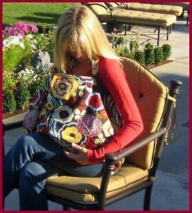 New Bebe au Lait Nursing Cover Blanket Hooter Hiders Breastfeeding ~ Chocolate