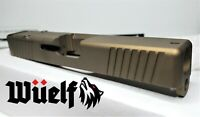 GEN3 Glock 19 Radius Slide w/RMR Front and Rear in Burnt Bronze incl Coverplate