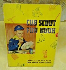 1956 Boy Scouts of America Cub Scout Fun Book Activities to Earn Arrow Points