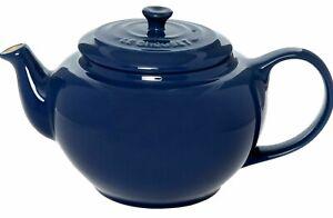 LE CREUSET Stoneware Round Teapot 1L, Harmon Blue