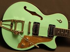 Duesenberg Starplayer TV Surf Green with Hard Shell Case    FREE SHIPPING