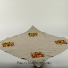 "Thanksgiving Embroidered Harvest Table Topper 32"" x 32"" Wimpole Street 