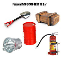 Boîte en bois seau à huile seau pelle extincteur pour Axial 1/10 SCX10 TRX4 RC