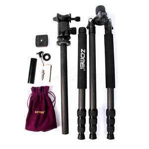 Zomei Z888C Portable Carbon Fiber Tripod Stand With Ball Head For Sony Camera