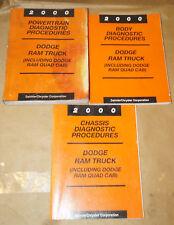 New Listing2000 Chrysler Dodge Ram Truck Br/Be Oem Service Shop Manual 3-Volume Set