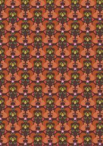 0.5 metre Red Squirrels on Dark 100% Cotton Fabric 112cm wide