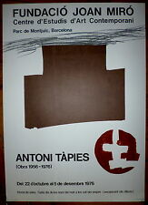 TAPIES Antoni Affiche Lithographie 1976 Tapies Espagne art abstrait abstraction