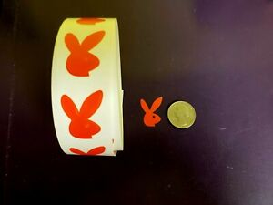 ~~~100~~ BUNNY TANNING BODY STICKERS  RED Bunny Faces Right