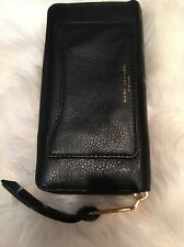 Marc Jacobs Black Recruit Leather Continental Zip Wallet
