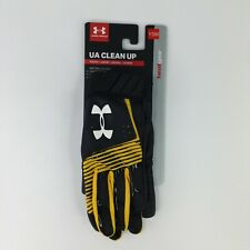 Under Armour Clean Up Baseball Batting Gloves Youth Size YSM Black/Yellow