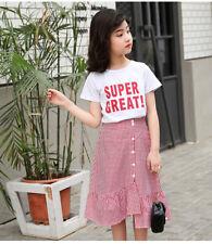Ienens Kids Fashion Meninas conjuntos de roupas casuais tops + Roupas Vestido Terno Clothing