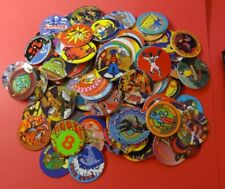 Pogs 120 Miscellaneous Variety + MADCAPS Pack * 4 Caps * 1994