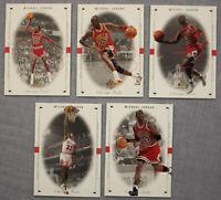 Michael Jordan Bulls MVP HOF 1998-99 Upper Deck SP Authentic (5) Card Lot  MINT