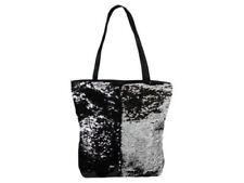 Wende Pailletten Taschen Shopper Einkauftasche Handtasche schwarz silber