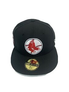 New Era 59 Fifty Boston Red Sox MLB 7-1/4 fitted Black cap/hat Brand New
