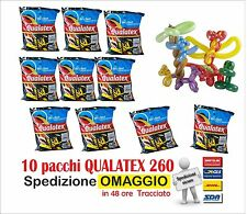 Palloncini modellabili QUALATEX 260 (10 buste da 100 pezzi cad) colori assortiti