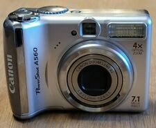 Canon PC1229 Powershot A560 Digital Camera 4X Optical Zoom 7.1MP with SD Card