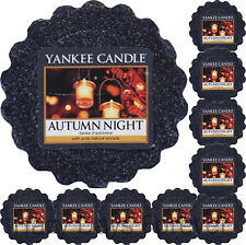 10 YANKEE CANDLE WAX TARTS Autumn Night MELTS fresh scented