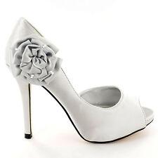 Women's Bridal or Wedding Textile Heels