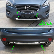 Chrome Front + Rear Bumper Lower Molding Trim For Mazda CX-5 2013 2014 2015 2016