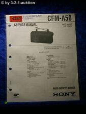Sony Service Manual CFM A50 Cassette Corder (#4241)