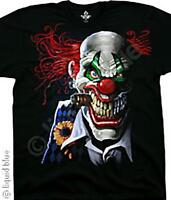 JOKER CLOWN-POSSE-CIRCUS-Big Print BLACK TSHIRT S-M-L- XL-XXL,3X,4X.5X.6X IT