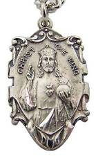 """MRT Sacred Heart Of Jesus Christ The King Sterling Silver Medal w Chain & Box 1"""""""